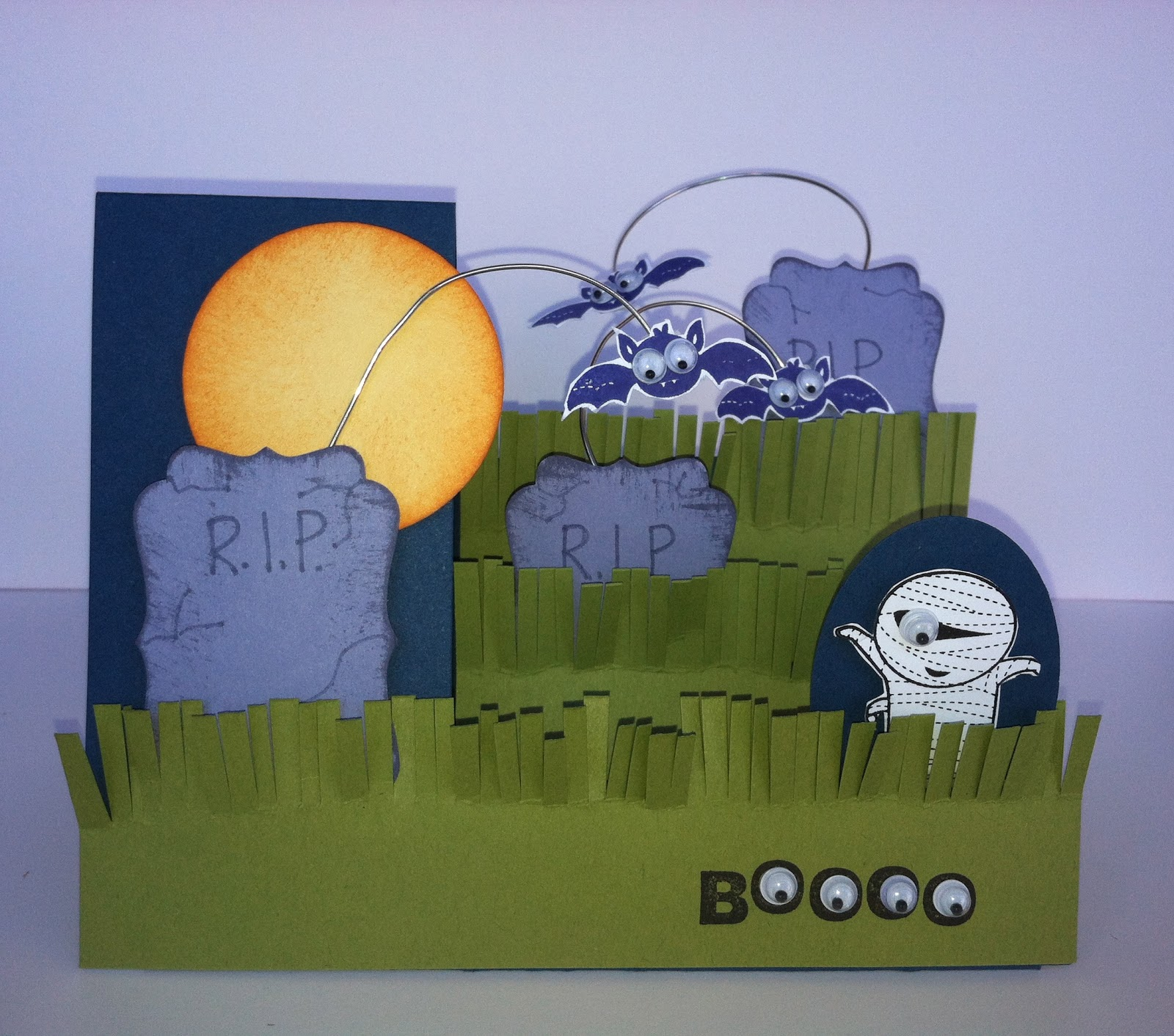 Halloween night in the cemetery with Googly Ghouls from Stampin' Up!