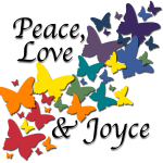 Click here to visit Peace, Love and Joyce on Facebook / http://www.facebook.com/peaceloveandjoyce