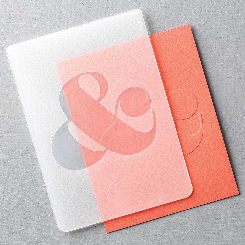Ampersand Textured Embossing Folder, Stampin Up, 132970G