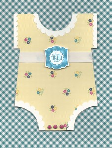 Cutest Baby Ever All images © Stampin'Up! Label Love Stamp Set Gingham Garden Designer Series Paper
