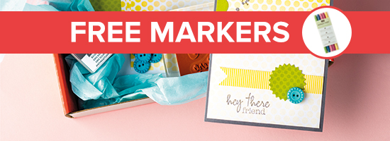 FREE set of 2012-2014 In Color Stampin' Write Markers -a $14.95  value-with your Paper Pumpkin Welcome Kit.