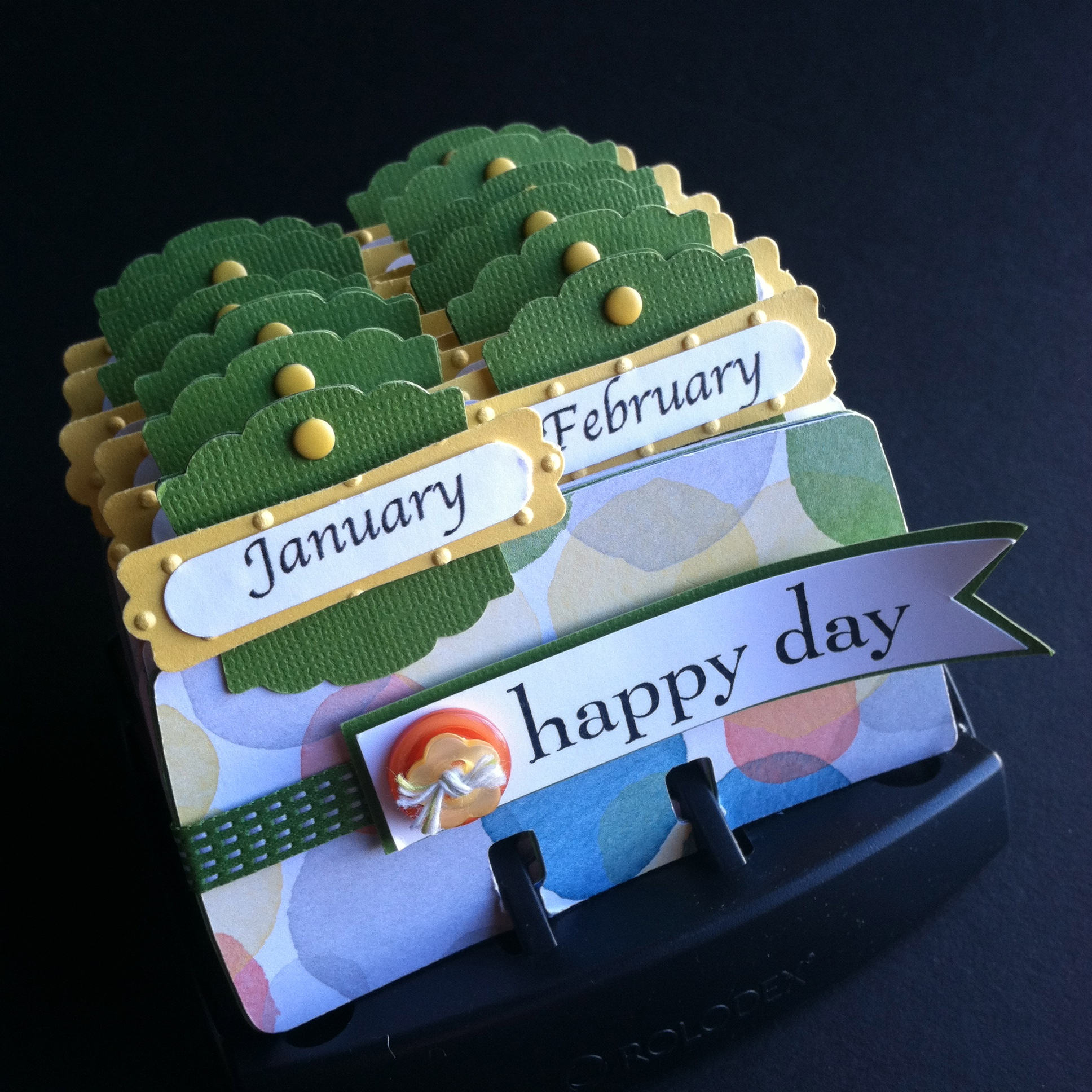 Rolodex Perpetual Calendar Featuring Watercolor Wonder Designer Series Paper from Stampin' Up!