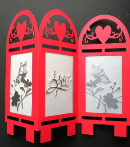 Silhouette Cameo, Valentine's Day, Table Top Screen