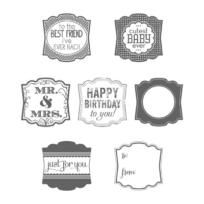 Label Love Stamp Set from Stampin Up, Item 130622