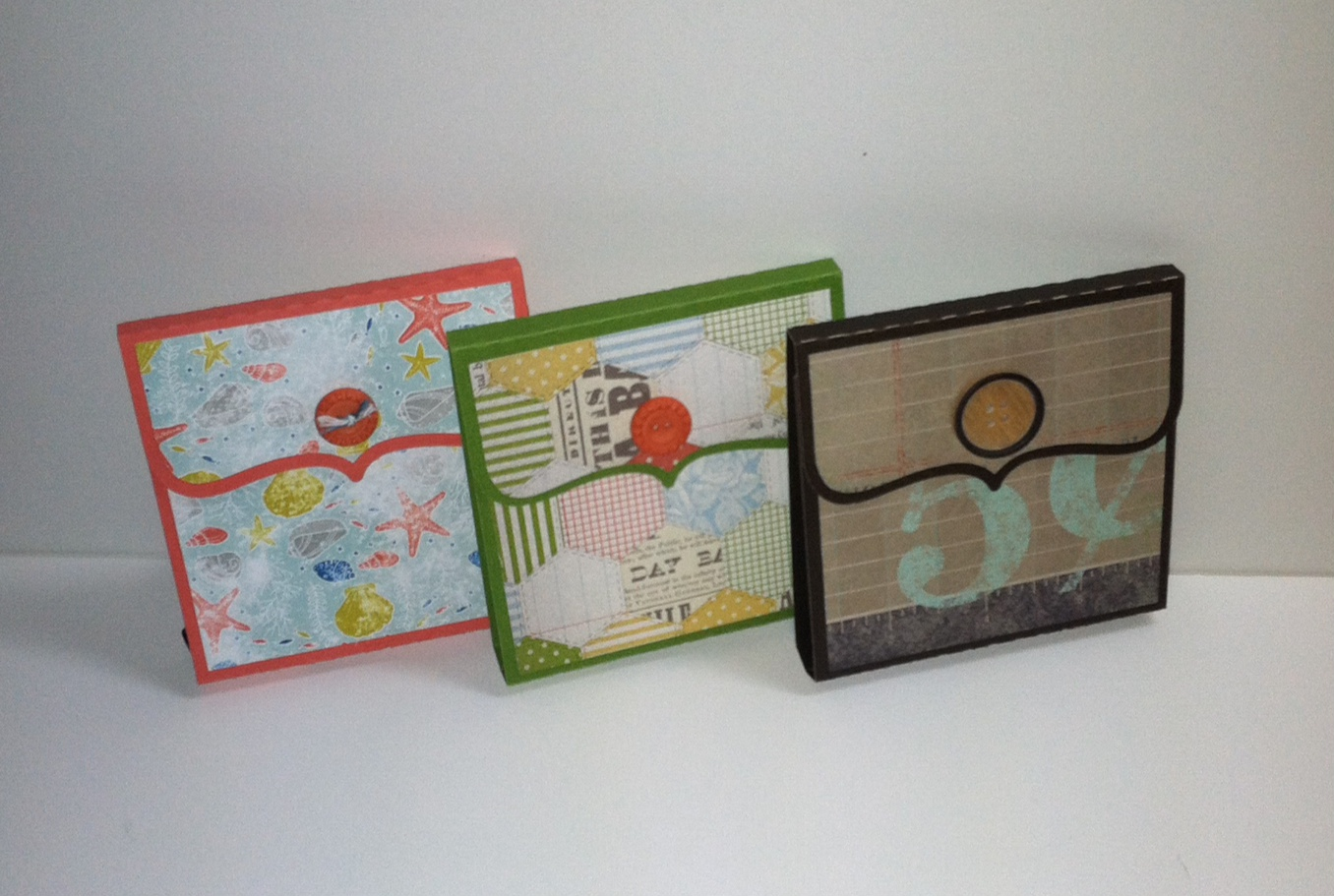 Silhouette Cameo Project #3 Post-it Note Holders featuring Designer Series Paper from Stampin' Up!