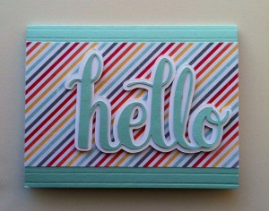 "Silhouette Cameo Project #2 Hello Card ""I am Me"" Designer Series Paper from Stampin' Up!"