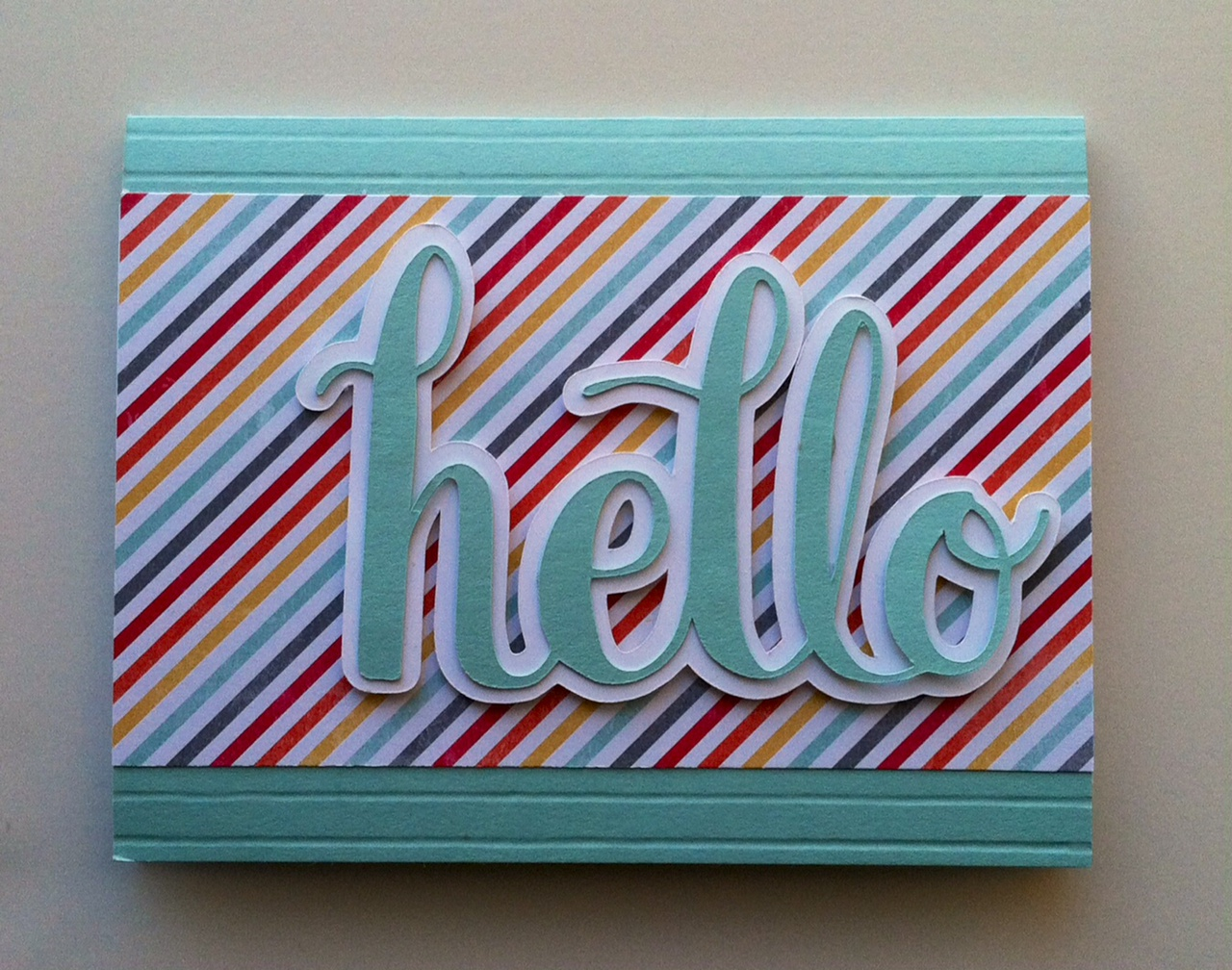 "Silhouette Project #2 Hello Card ""I am Me"" Designer Series Paper from Stampin' Up!"