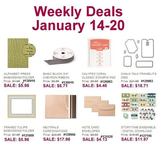 Stampin' Up! Weekly Deals January 14-20