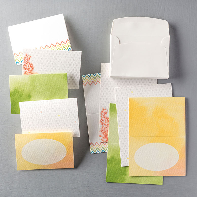 Watercolor Wonder Designer Note Cards, Stampin Up, 133362G