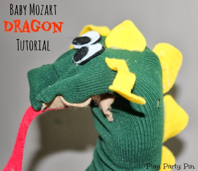 Baby Mozart Dragon, Play. Party. Pin