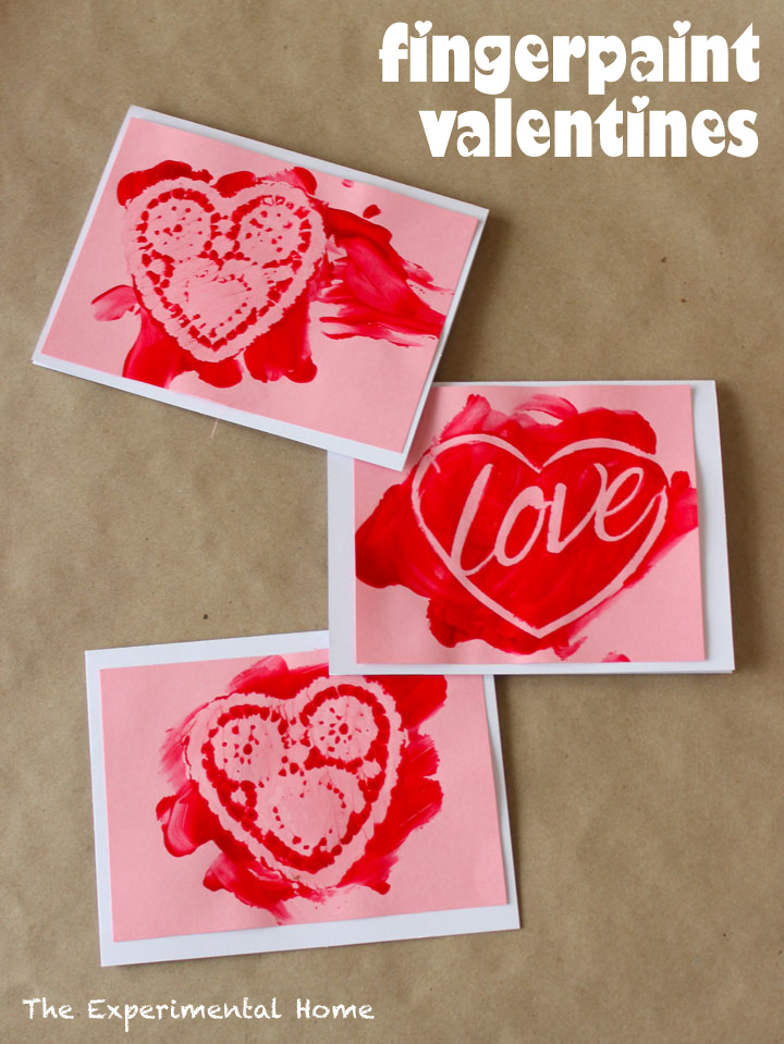 Fingerpaint Valentines, The Experimental Home