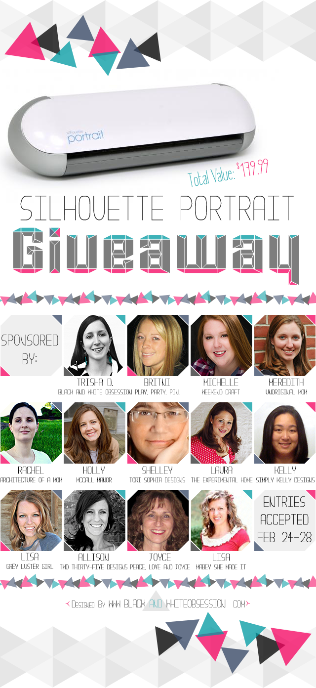 Silhouette Portrait Giveaway February 24-28, 2014 www.peaceloveandjoyce.com
