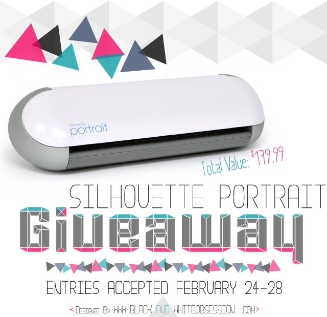 Silhouette Portrait Giveaway at www.peaceloveandjoyce.com