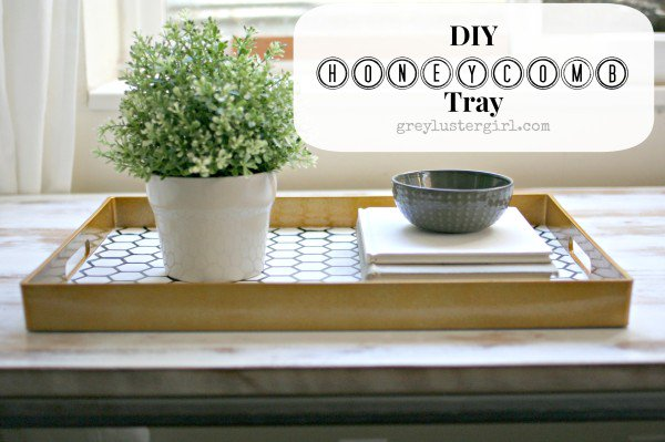 Honeycomb-tray-upcycle, Grey Luster Girl