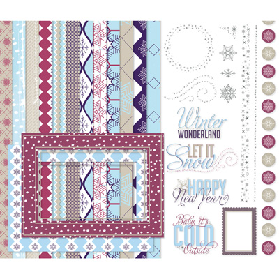 Let it Snow Stampin Up My Digital Studio Digital Download  Item #132963