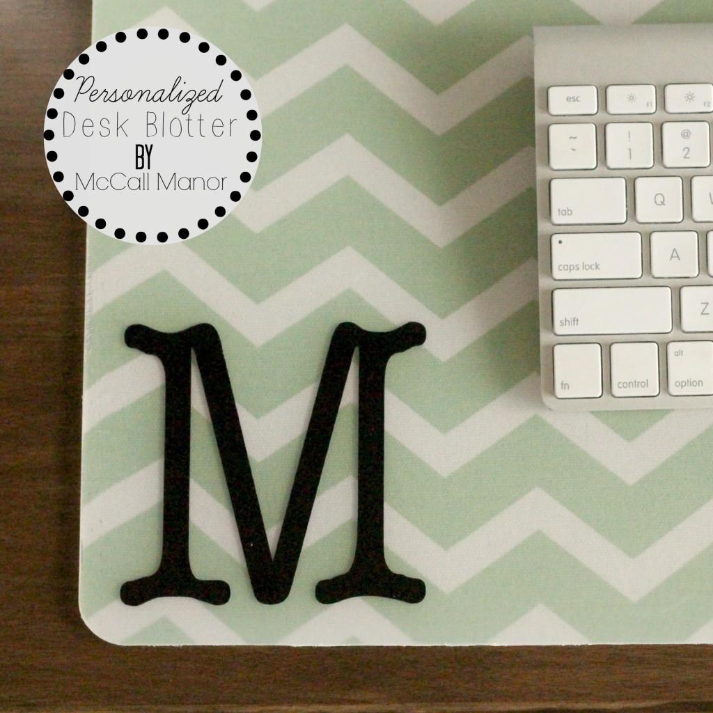 Personalized Desk Blotter McCall Manor