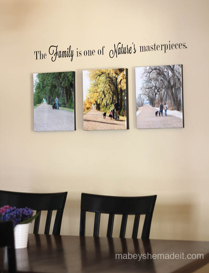 Wall Art Photo-Canvases from Mabey She Made It