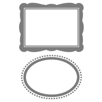 Set Designer Frames Embossing Folders, Stampin Up, Item 123130L
