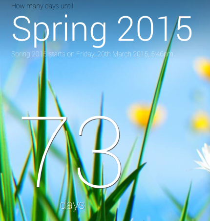 73 Days Until the First Day of Spring