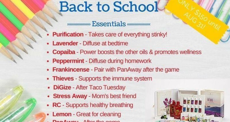 Back to School with Young Living Essential Oils