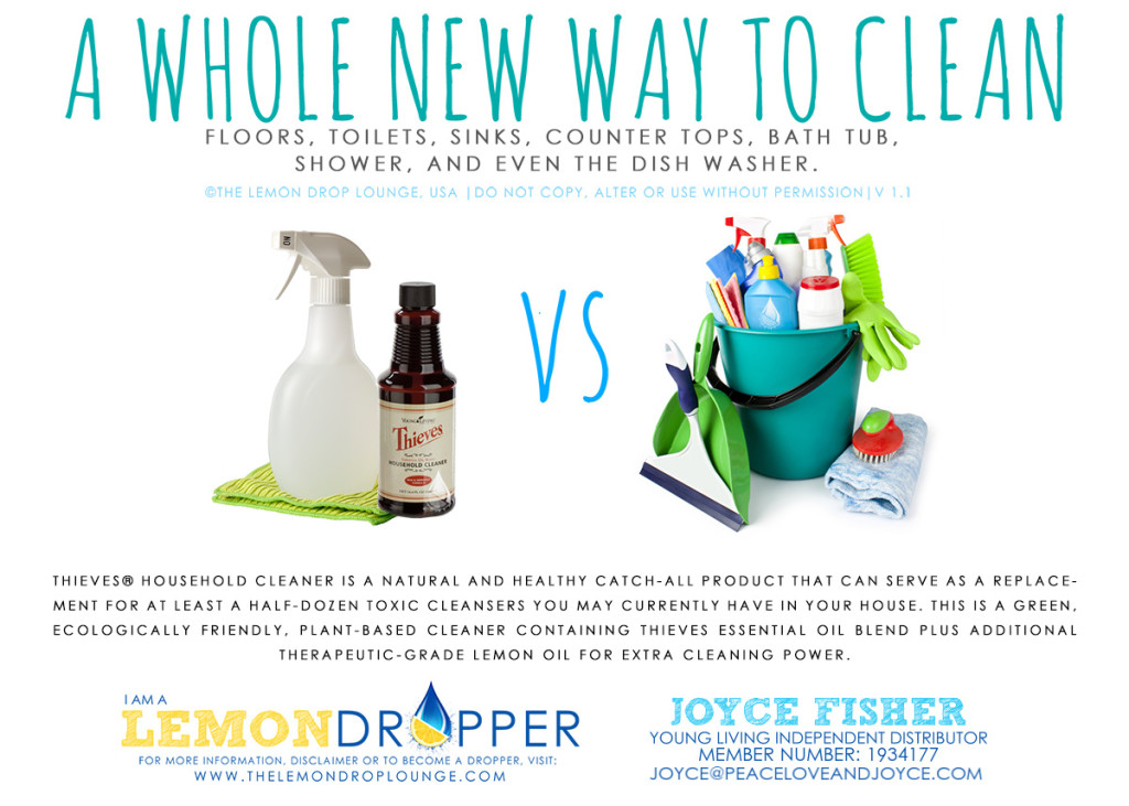 Young Living Thieves Household Cleaner for all natural non toxic Spring Clean