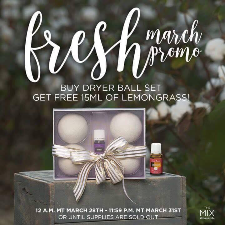 Young Living Essential Oils, Dryer Balls with Lavender Essential Oil. Spring Special Offer
