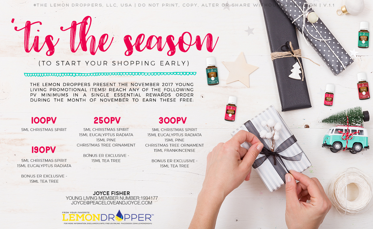 Get in the Christmas Spirit with Young Living!!! – Peace, Love and Joyce